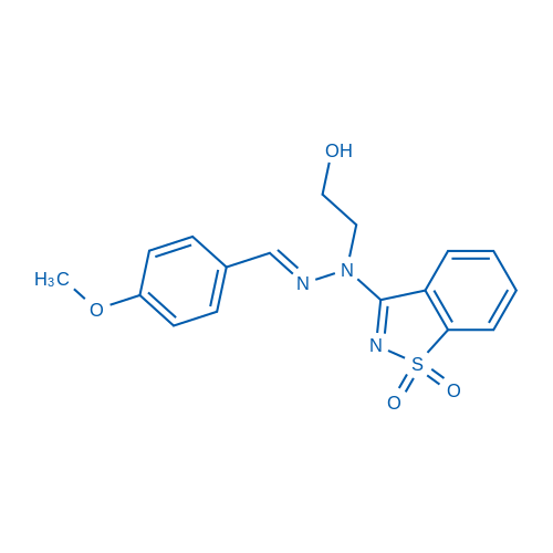 3-(1-(2-Hydroxyethyl)-2-(4-methoxybenzylidene)hydrazinyl)benzo[d]isothiazole 1,1-dioxide