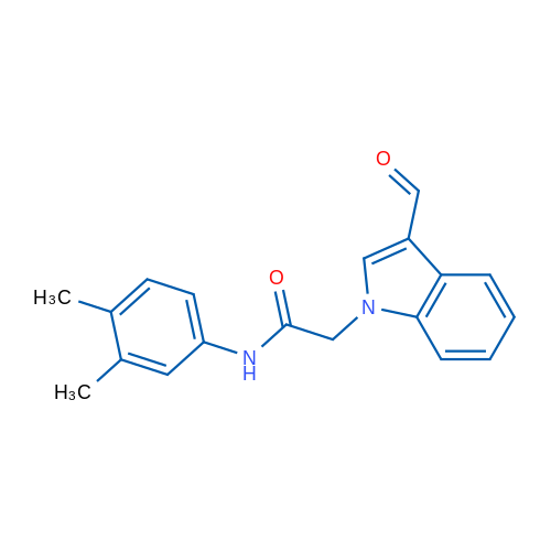 N-(3,4-Dimethylphenyl)-2-(3-formyl-1H-indol-1-yl)acetamide
