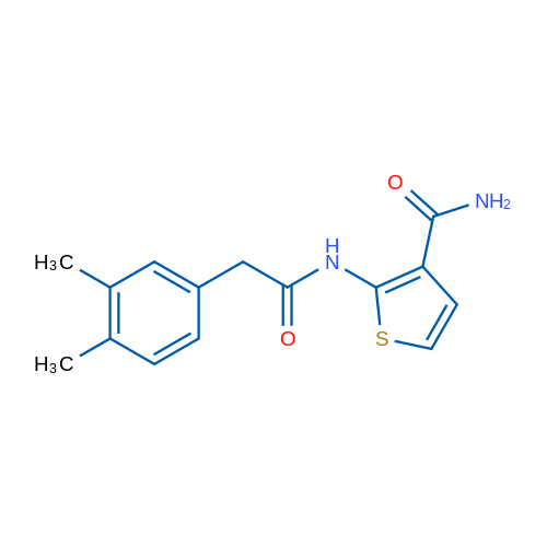2-(2-(3,4-Dimethylphenyl)acetamido)thiophene-3-carboxamide