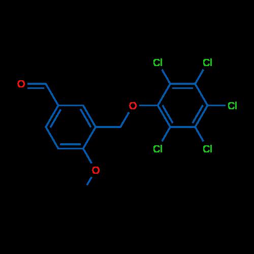4-Methoxy-3-((perchlorophenoxy)methyl)benzaldehyde