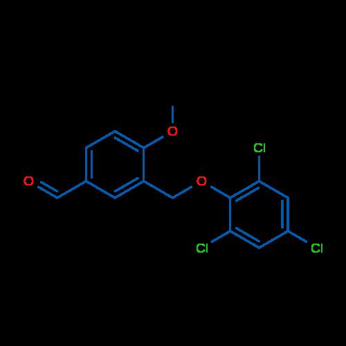 4-Methoxy-3-((2,4,6-trichlorophenoxy)methyl)benzaldehyde