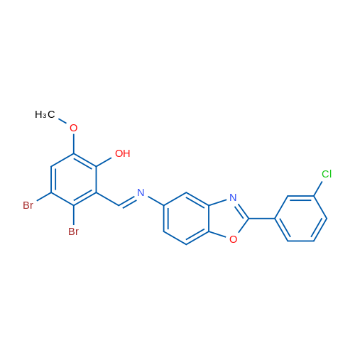 3,4-Dibromo-2-(((2-(3-chlorophenyl)benzo[d]oxazol-5-yl)imino)methyl)-6-methoxyphenol