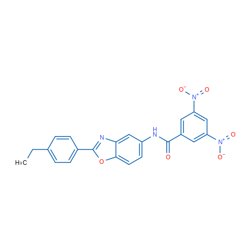 N-(2-(4-Ethylphenyl)benzo[d]oxazol-5-yl)-3,5-dinitrobenzamide