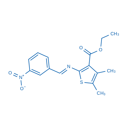Ethyl 4,5-dimethyl-2-((3-nitrobenzylidene)amino)thiophene-3-carboxylate