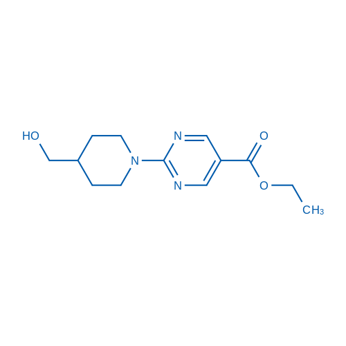 Ethyl 2-(4-(hydroxymethyl)piperidin-1-yl)pyrimidine-5-carboxylate
