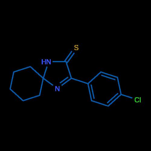 3-(4-Chlorophenyl)-1,4-diazaspiro[4.5]dec-3-ene-2-thione