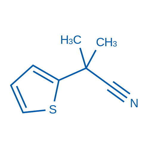 2-Methyl-2-(thiophen-2-yl)propanenitrile