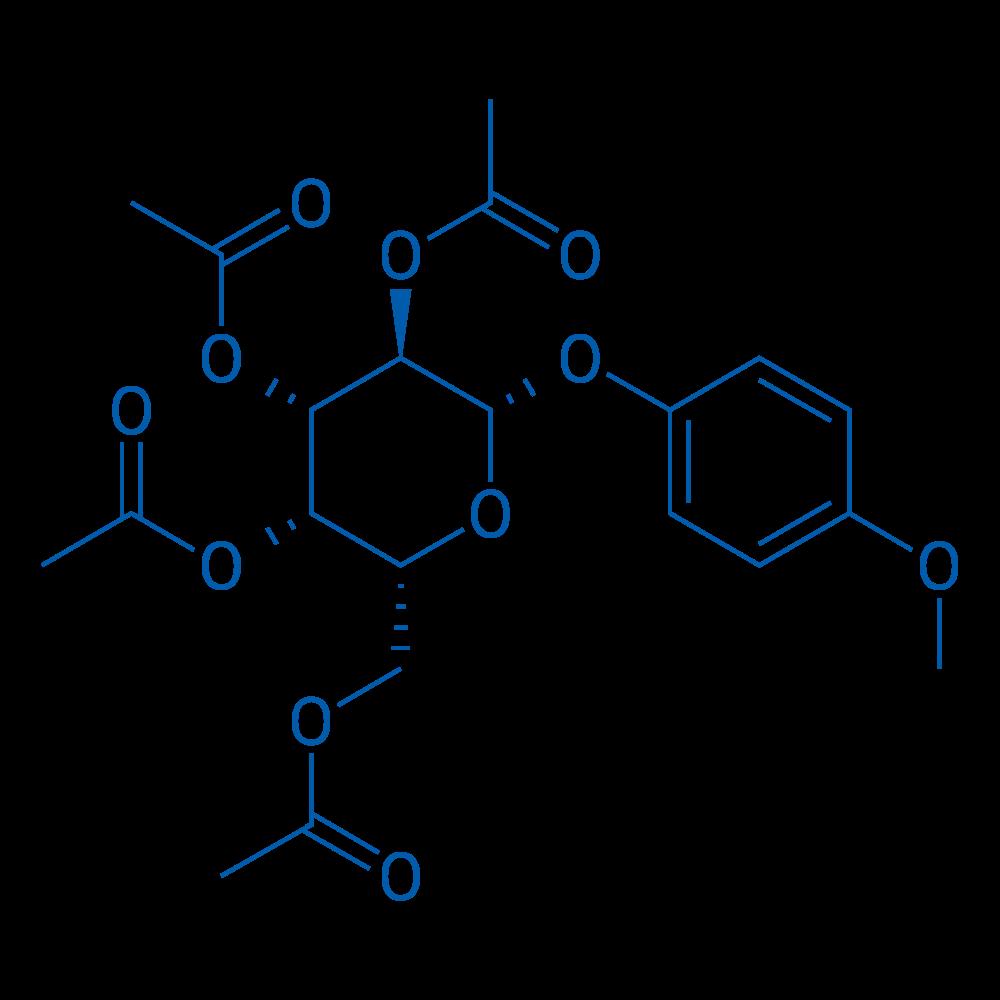 (2R,3S,4S,5R,6S)-2-(Acetoxymethyl)-6-(4-methoxyphenoxy)tetrahydro-2H-pyran-3,4,5-triyl triacetate