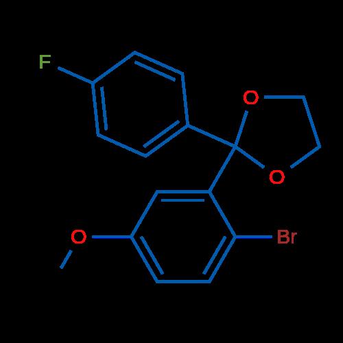 2-Bromo-4'-fluoro-5-methoxybenzophenone ethylene ketal