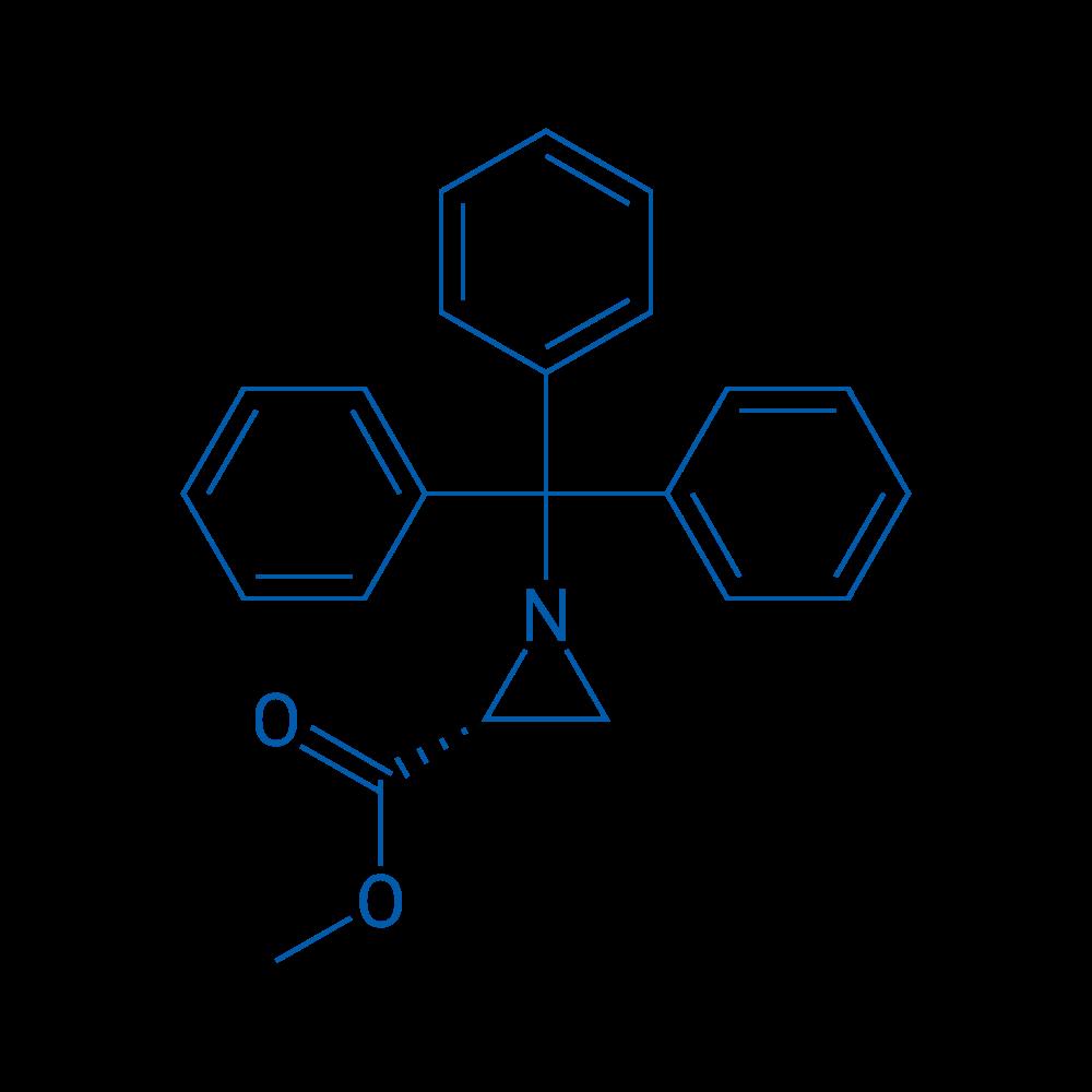 (R)-Methyl 1-tritylaziridine-2-carboxylate