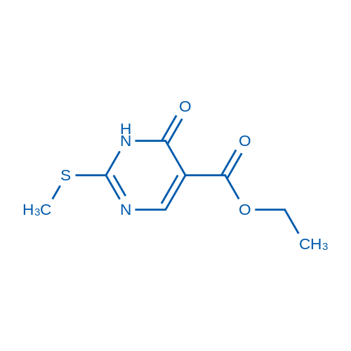 Ethyl2-(methylthio)-6-oxo-1,6-dihydropyrimidine-5-carboxylate