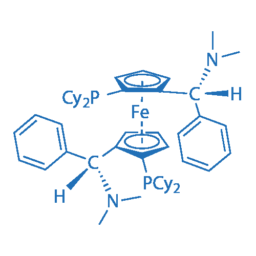 (SP,S'P)-1,1'-Bis(dicyclohexylphosphino)-2,2'-bis[(R)-α-(dimethylamino)benzyl]ferrocene