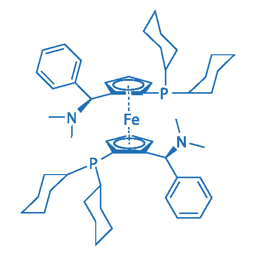 (RP,R'P)-1,1'-Bis(dicyclohexylphosphino)-2,2'-bis[(S)-α-(dimethylamino)benzyl]ferrocene
