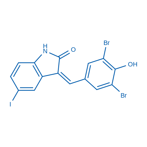 3-(3,5-dibromo-4-hydroxybenzylidene)-5-iodoindolin-2-one