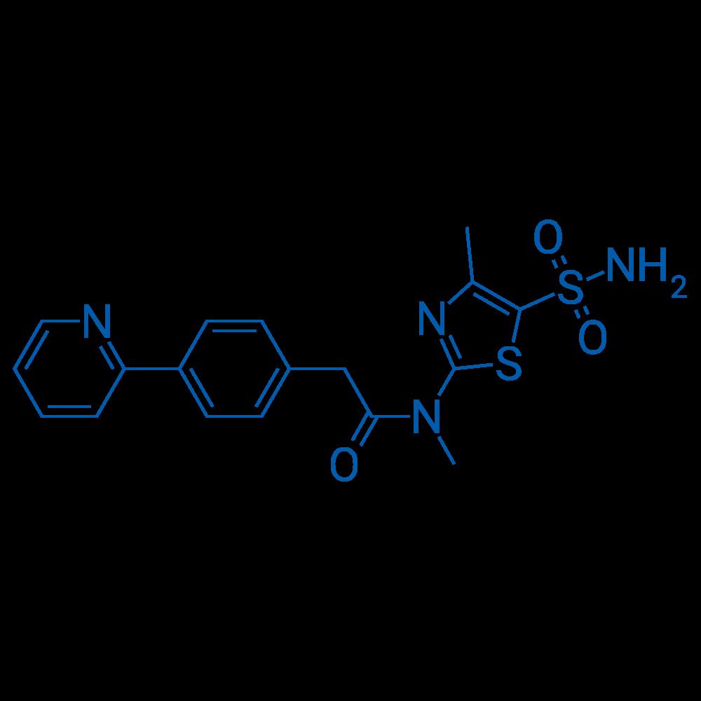 N-Methyl-N-(4-methyl-5-sulfamoylthiazol-2-yl)-2-(4-(pyridin-2-yl)phenyl)acetamide