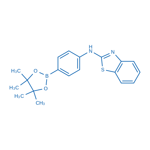 N-(4-(4,4,5,5-Tetramethyl-1,3,2-dioxaborolan-2-yl)phenyl)benzo[d]thiazol-2-amine