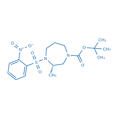 (S)-tert-Butyl 3-methyl-4-((2-nitrophenyl)sulfonyl)-1,4-diazepane-1-carboxylate