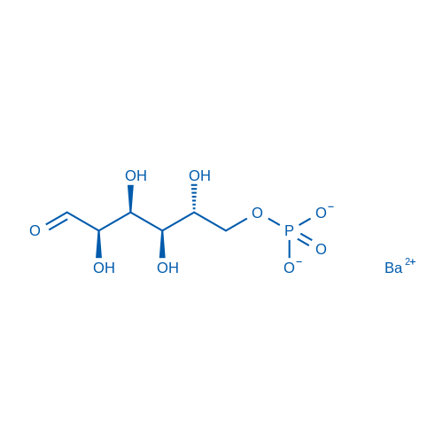 Barium (2R,3R,4S,5R)-2,3,4,5-tetrahydroxy-6-oxohexyl phosphate(1:x)