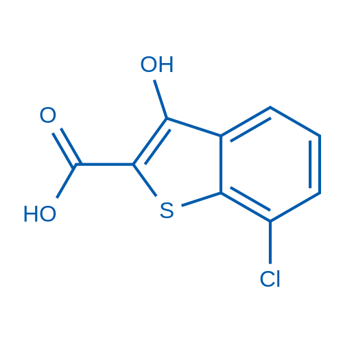 7-Chloro-3-hydroxybenzo[b]thiophene-2-carboxylic acid