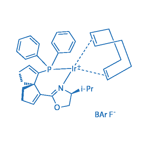 [(1,2,5,6-η)-1,5-Cyclooctadiene][(4S)-2-[(5S)-6-(diphenylphosphino-κP)spiro[4.4]nona-1,6-dien-1-yl]-4,5-dihydro-4-(1-methylethyl)oxazole-ΚN3]-(+)-Iridium(I)Tetrakis[3,5-bis(trifluoromethyl)phenyl]borate