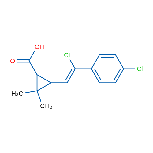 3-(2-Chloro-2-(4-chlorophenyl)vinyl)-2,2-dimethylcyclopropanecarboxylic acid