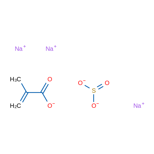 2-Propenoic acid, 2-methyl-, telomer with sodium sulfite (1:1), sodium salt