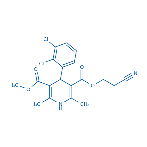 4-(2,3-Dichloro-phenyl)-2,6-dimethyl-1,4-dihydro-pyridine-3,5-dicarboxylic acid 3-(2-cyano-ethyl) ester 5-methyl ester