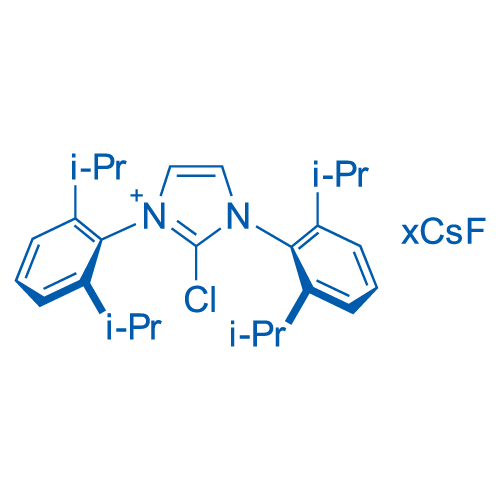2-Chloro-1,3-bis(2,6-diisopropylphenyl)-1H-imidazol-3-ium chloride, mixt. with cesium fluoride