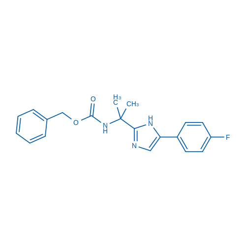 Benzyl (2-(5-(4-fluorophenyl)-1H-imidazol-2-yl)propan-2-yl)carbamate