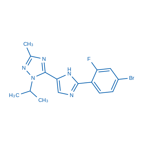 5-(2-(4-Bromo-2-fluorophenyl)-1H-imidazol-5-yl)-1-isopropyl-3-methyl-1H-1,2,4-triazole