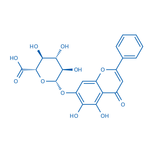 5,6-Dihydroxy-4-oxo-2-phenyl-4H-1-benzopyran-7-yl β-D-Glucopyranosiduronic Acid