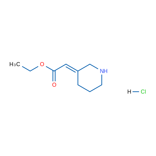 Ethyl 2-(3-piperidinylidene)acetate hydrochloride
