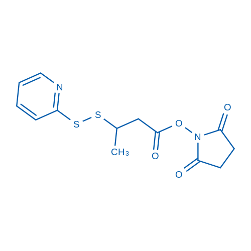 2,5-dioxopyrrolidin-1-yl 3-(pyridin-2-yldisulfanyl)butanoate
