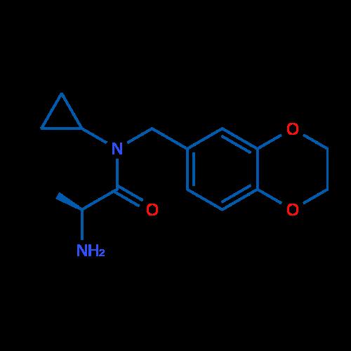 (S)-2-Amino-N-cyclopropyl-N-((2,3-dihydrobenzo[b][1,4]dioxin-6-yl)methyl)propanamide