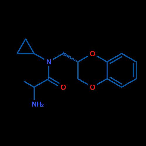 2-Amino-N-cyclopropyl-N-(((S)-2,3-dihydrobenzo[b][1,4]dioxin-2-yl)methyl)propanamide