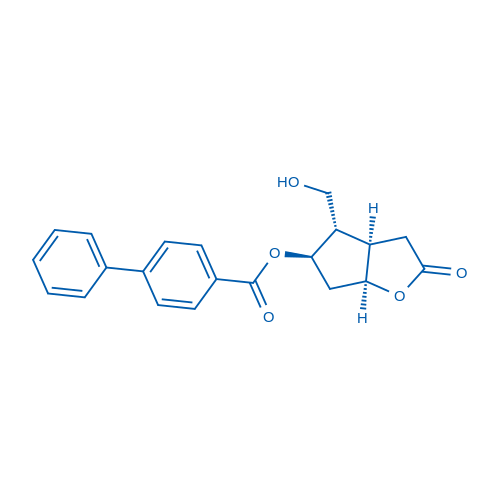(3aR,4S,5R,6aS)-4-(Hydroxymethyl)-2-oxohexahydro-2H-cyclopenta[b]furan-5-yl Biphenyl-4-carboxylate