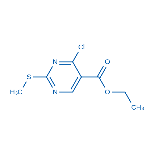 Ethyl 4-chloro-2-(methylthio)pyrimidine-5-carboxylate