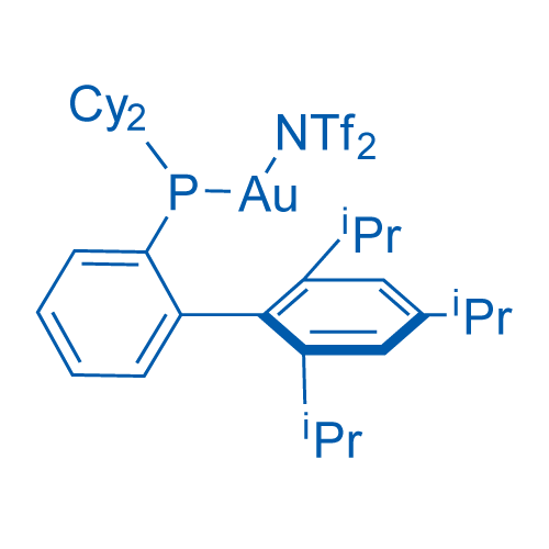 2-Dicyclohexylphosphino-2',4',6'-triisopropylbiphenyl gold(I) bis(trifluoromethanesulfonyl)imide