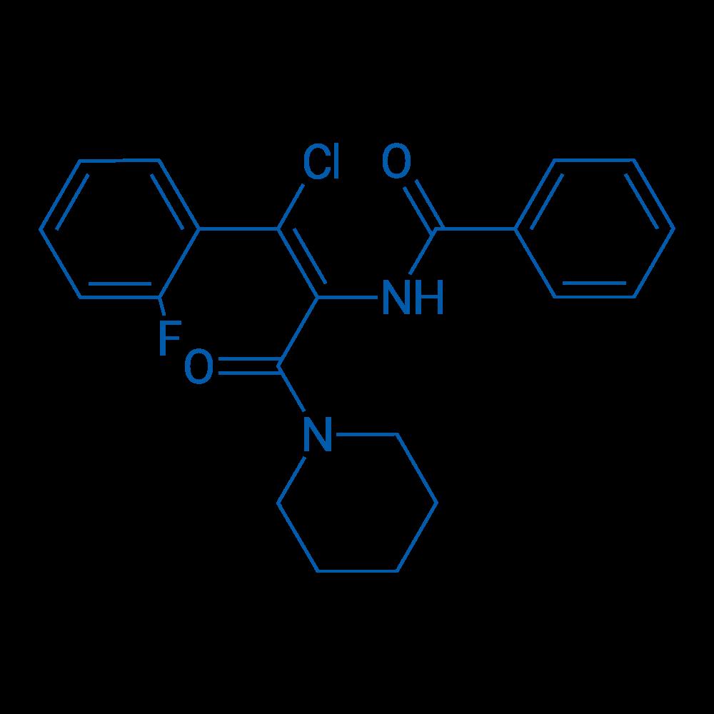 (Z)-N-(1-Chloro-1-(2-fluorophenyl)-3-oxo-3-(piperidin-1-yl)prop-1-en-2-yl)benzamide