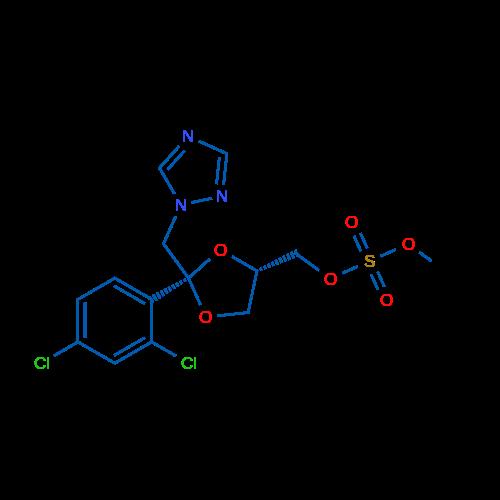 (cis-2-((1H-1,2,4-Triazol-1-yl)methyl)-2-(2,4-dichlorophenyl)-1,3-dioxolan-4-yl)methyl methyl sulfate