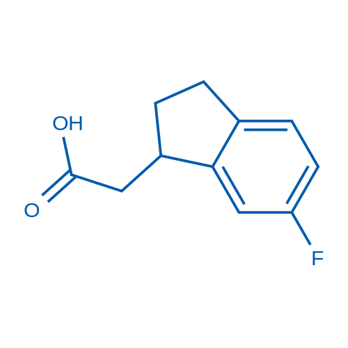 2-(6-Fluoro-2,3-dihydro-1H-inden-1-yl)acetic acid