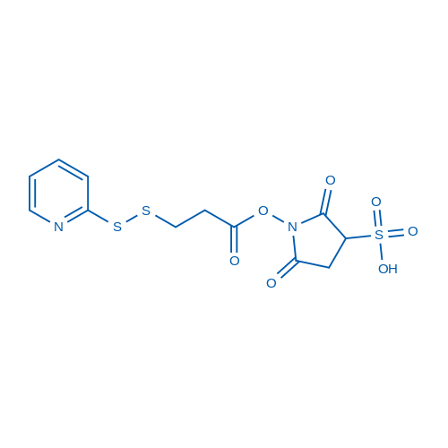 2,5-dioxo-1-(3-(pyridin-2-yldisulfanyl)propanoyloxy)pyrrolidine-3-sulfonic acid