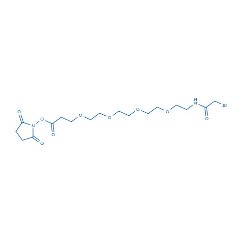 2,5-dioxopyrrolidin-1-yl 1-bromo-2-oxo-6,9,12,15-tetraoxa-3-azaoctadecan-18-oate