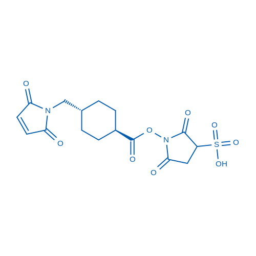 1-((1r,4r)-4-((2,5-dioxo-2H-pyrrol-1(5H)-yl)methyl)cyclohexanecarbonyloxy)-2,5-dioxopyrrolidine-3-sulfonic acid