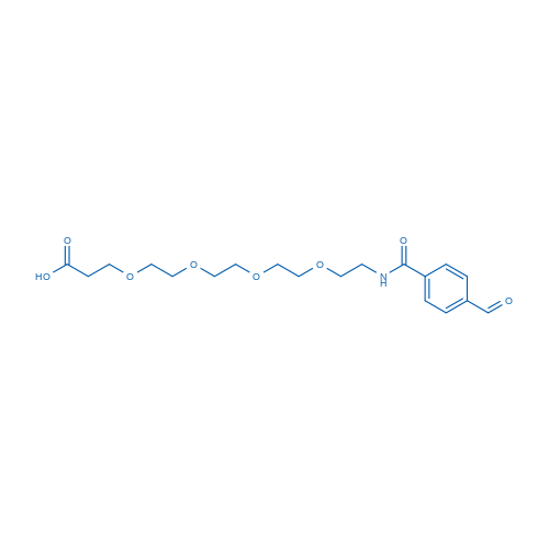 1-(4-Formylphenyl)-1-oxo-5,8,11,14-tetraoxa-2-azaheptadecan-17-oic acid