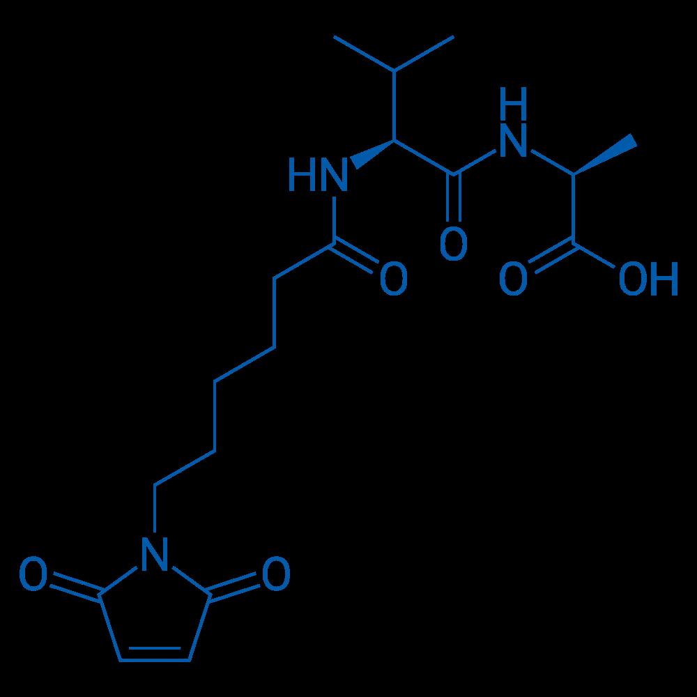 (S)-2-((S)-2-(6-(2,5-dioxo-2H-pyrrol-1(5H)-yl)hexanamido)-3-methylbutanamido)propanoic acid