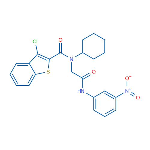 3-Chloro-N-cyclohexyl-N-(2-((3-nitrophenyl)amino)-2-oxoethyl)benzo[b]thiophene-2-carboxamide