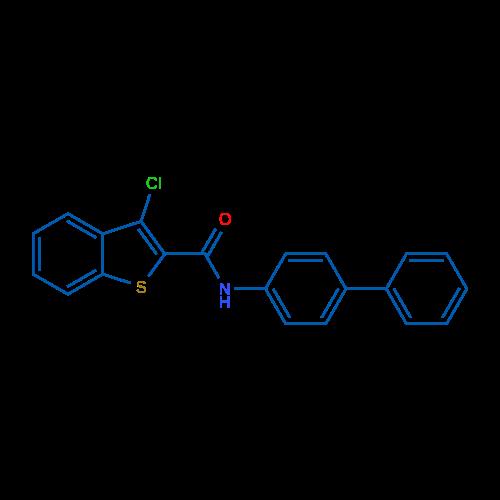 N-([1,1'-Biphenyl]-4-yl)-3-chlorobenzo[b]thiophene-2-carboxamide