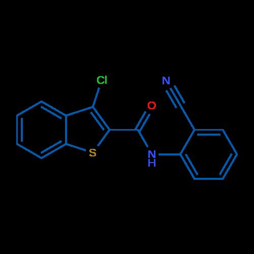 3-Chloro-N-(2-cyanophenyl)benzo[b]thiophene-2-carboxamide