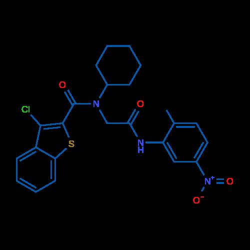 3-Chloro-N-cyclohexyl-N-(2-((2-methyl-5-nitrophenyl)amino)-2-oxoethyl)benzo[b]thiophene-2-carboxamide